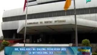 [The Weekend News] BIR, naglabas ng bagong patakaran ukol sa withholding tax [09|21|14]