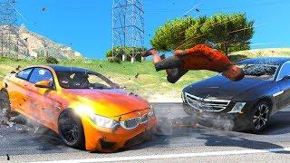 No Seatbelt Car Crashes - GTA 5 Ragdolls Compilation (Euphoria physics)