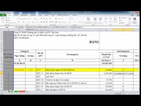 Quản lý bán hàng bằng exel, bảng tính hiện đang được dùng phổ biến