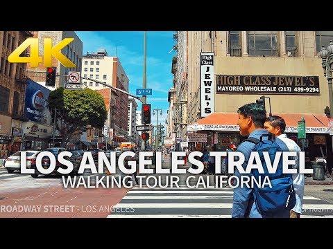 LOS ANGELES TRAVEL - USA, WALKING TOUR (1 HOUR 30 MINUTES), 4K(60FPS) - UHD