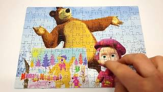 Как собрать пазл Маша и Медведь 120 элементов детская игра пазлы(, 2016-02-24T09:20:26.000Z)