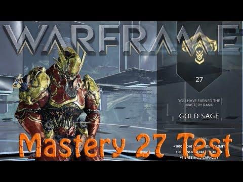 Warframe Mastery 27 Test thumbnail