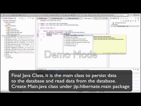 Hibernate XML mapping persistance - PART1