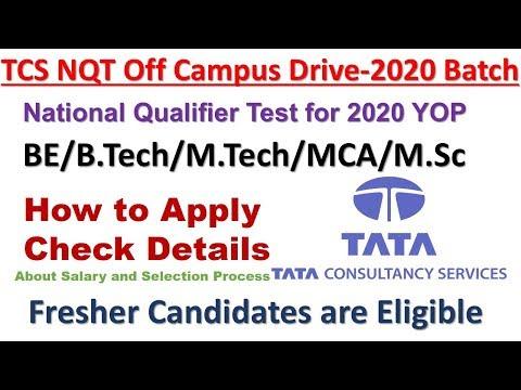 TCS Ninja for 2020 batch | TCS NQT Off Campus Drive for 2020