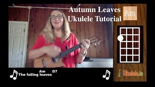 Autumn Leaves Ukulele Tutorial - 21 Ukulele Songs
