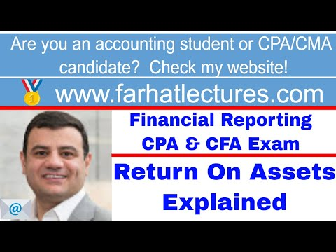 Return on assets ROA CFA exam ch 5 p 5