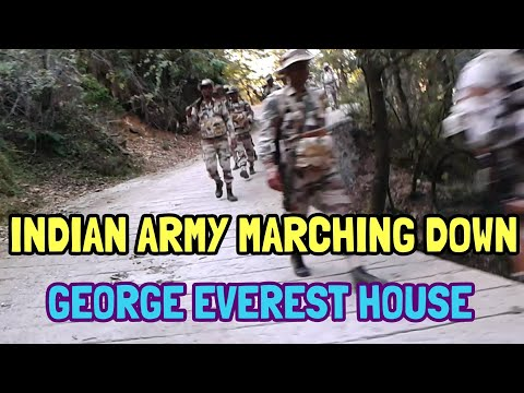 Indian Army marching down of George Everest House | Mussoorie