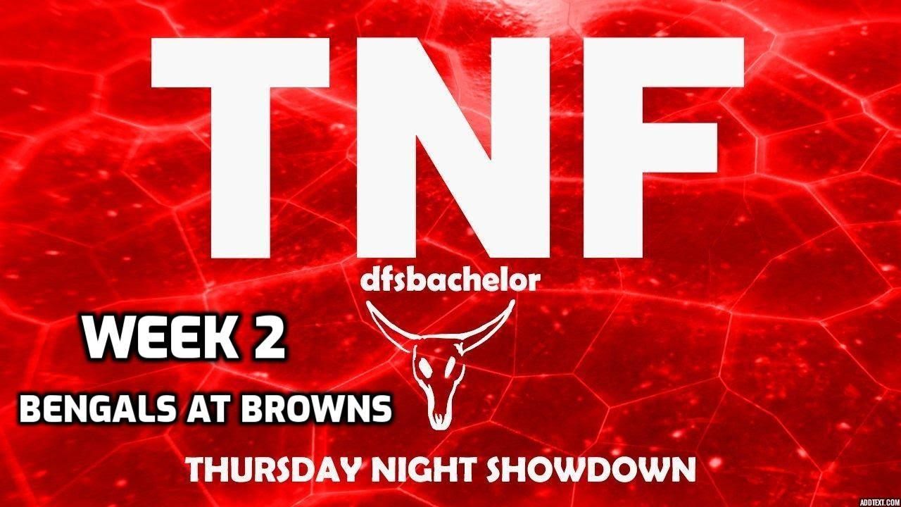 NFL Week 2 Draftkings Picks + Fanduel Picks - Thursday Night Football Showdown