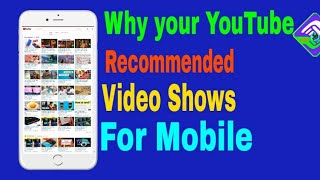 What Is Recommended video your YouTube page