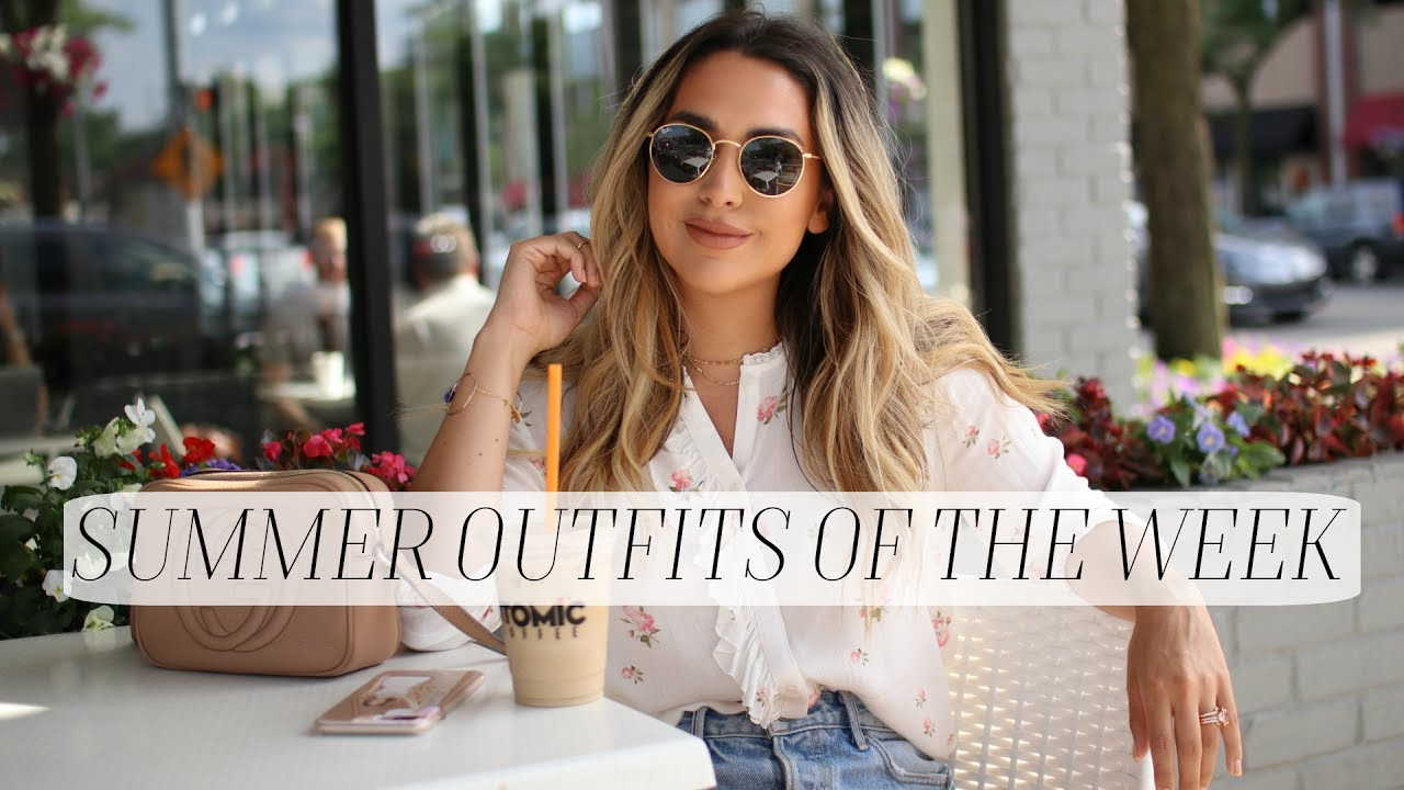 SUMMER OUTFITS OF THE WEEK LOOKBOOK! ALEXANDREA GARZA