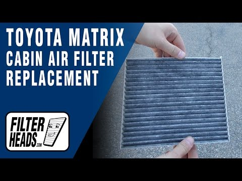 how to replace cabin air filter 2003 2008 toyota matrix. Black Bedroom Furniture Sets. Home Design Ideas