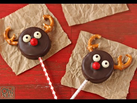 How to make Reindeer Oreo Cookie Pops ! - YouTube