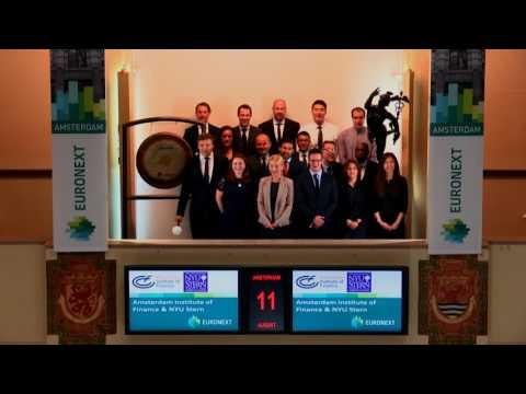 Amsterdam Institute of Finance bezoekt Beursplein 5