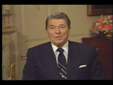 President Reagan addresses the 1988 Elks Grand Lodge