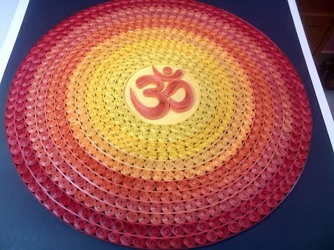 Quilling Om   Quilling Wall hanging for Meditation