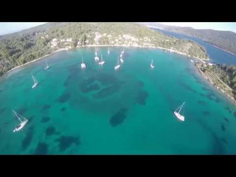 Hrvatska iz zraka - uvala Gradina, Vela Luka, Korčula 4K