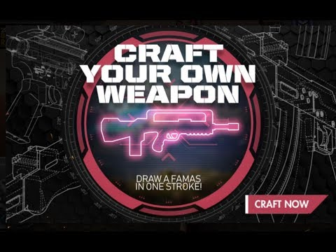 CRAFT YOUR OWN WEAPON. Event In Free Fire Full Details|| Draw A Famas In One Stroke In free fire