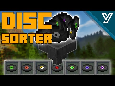 SUPER CHARGED Music Disc Sorter for Minecraft TUTORIAL