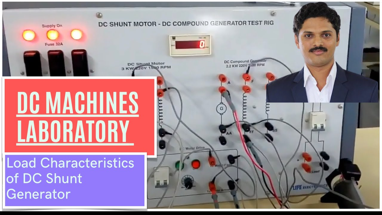 Load Characteristic Of Dc Shunt Generator Youtube 8 Wire Motor Wiring Diagram