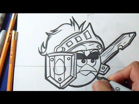 Cómo dibujar Pajaro Rojo \