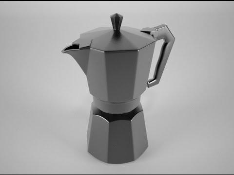 Draw A Moka Pot 3D