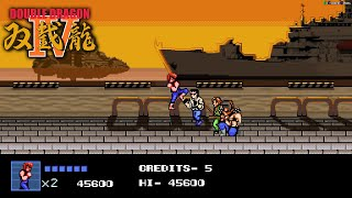 Double Dragon IV Full Gameplay Retro BGM option.