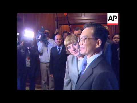 Premier Wen with German politicians
