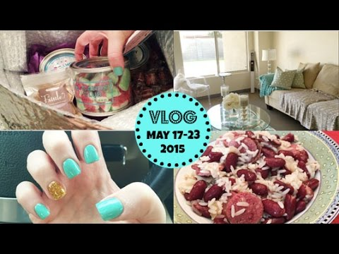 Honeybee Vlog Cam: Moving Day, New Nails, Red Beans & Rice w/ Sausage Recipe w. Mama Bee