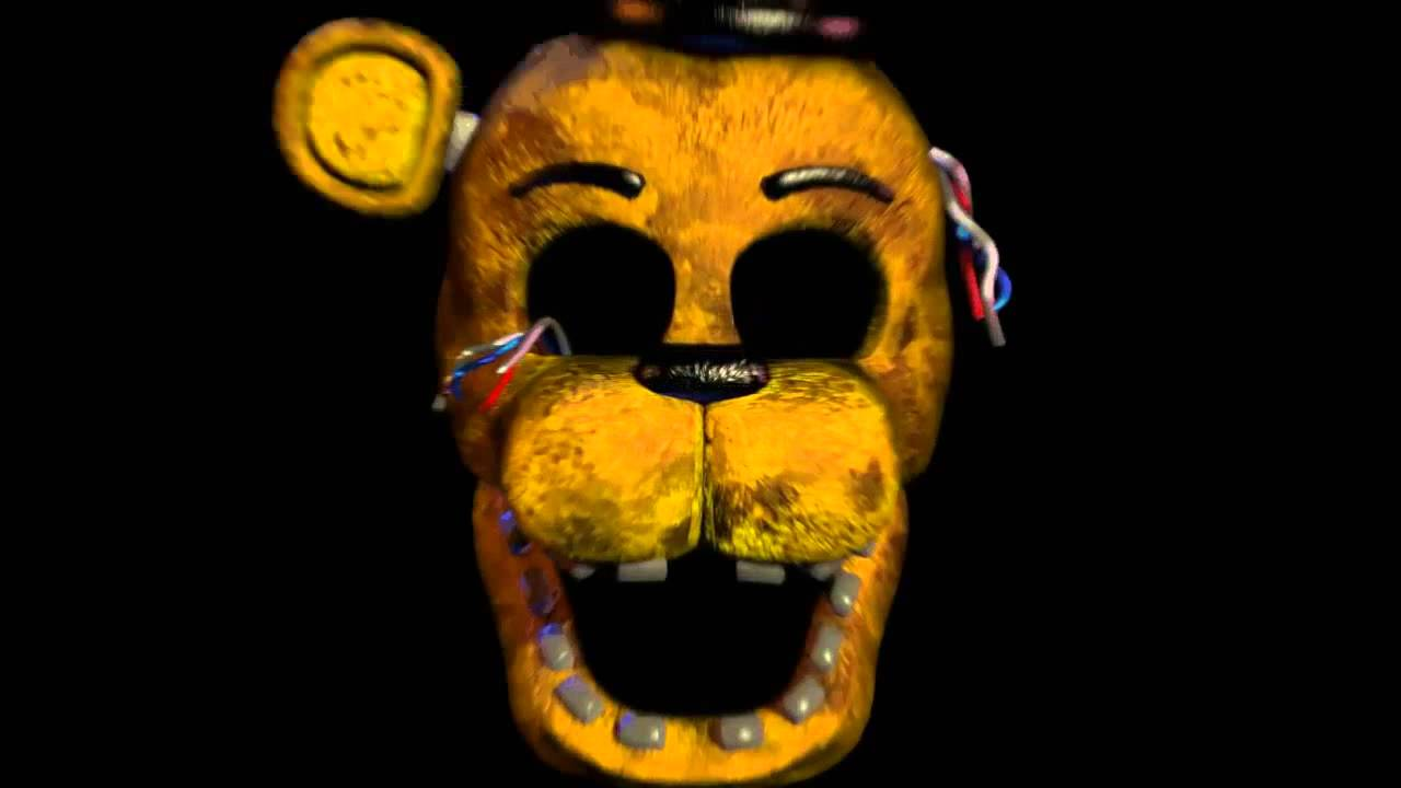 old golden freddy jump scare