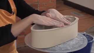 Pottery Video: How To Make An Elegant Wheel-thrown & Handbuilt Serving Tray | Martha Grover