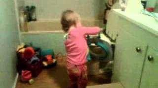 Ava going to the potty at 14months