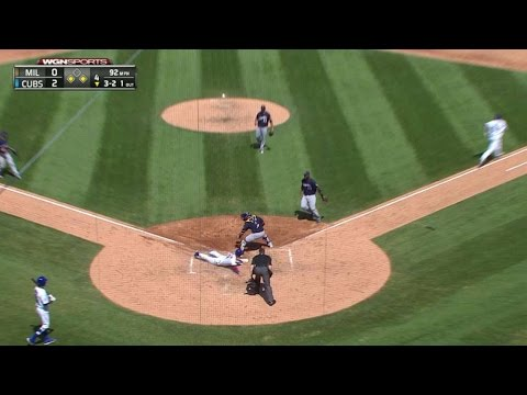 MIL@CHC: Cahill lays down a bunt to drive in Coghlan