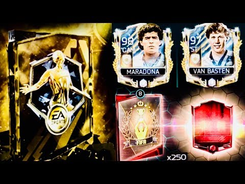 BIGGEST PULLS IN 250 GOLD+ REWARDS / PRIME ICONS PROGRAM PACKS -fifa mobile Tournament 10 wins Run