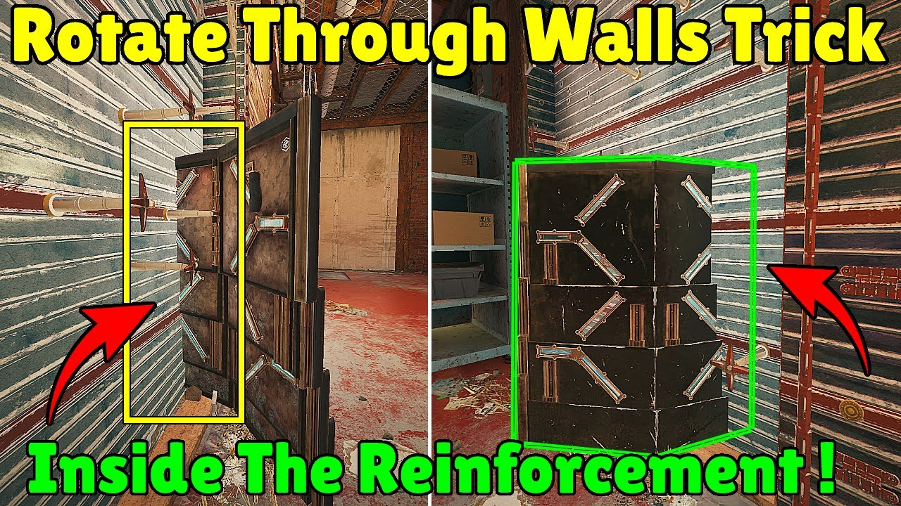 NEW Shield Trick To Rotate Through Reinforced Walls ! - Rainbow Six Siege