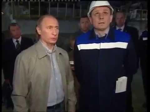 Путин в Пикалёво жёстко разговаривает с Дерипаской 2010 г