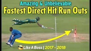 Top 10 Fastest Direct Hit Run Outs in Cricket History_Amazing  Run Outs