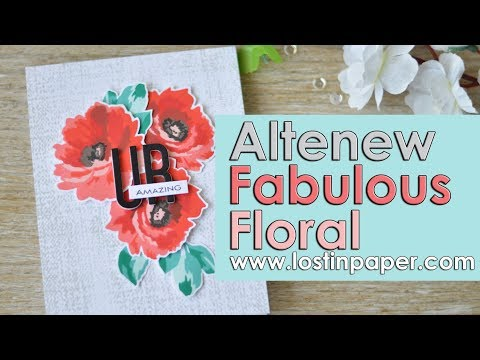 Stamp Layering the Fabulous Floral set from Altenew May 2018 Release!