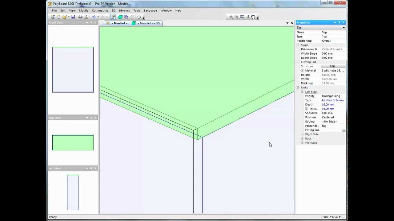 Cabinet design using a double rebate joint and Polyboard software ...