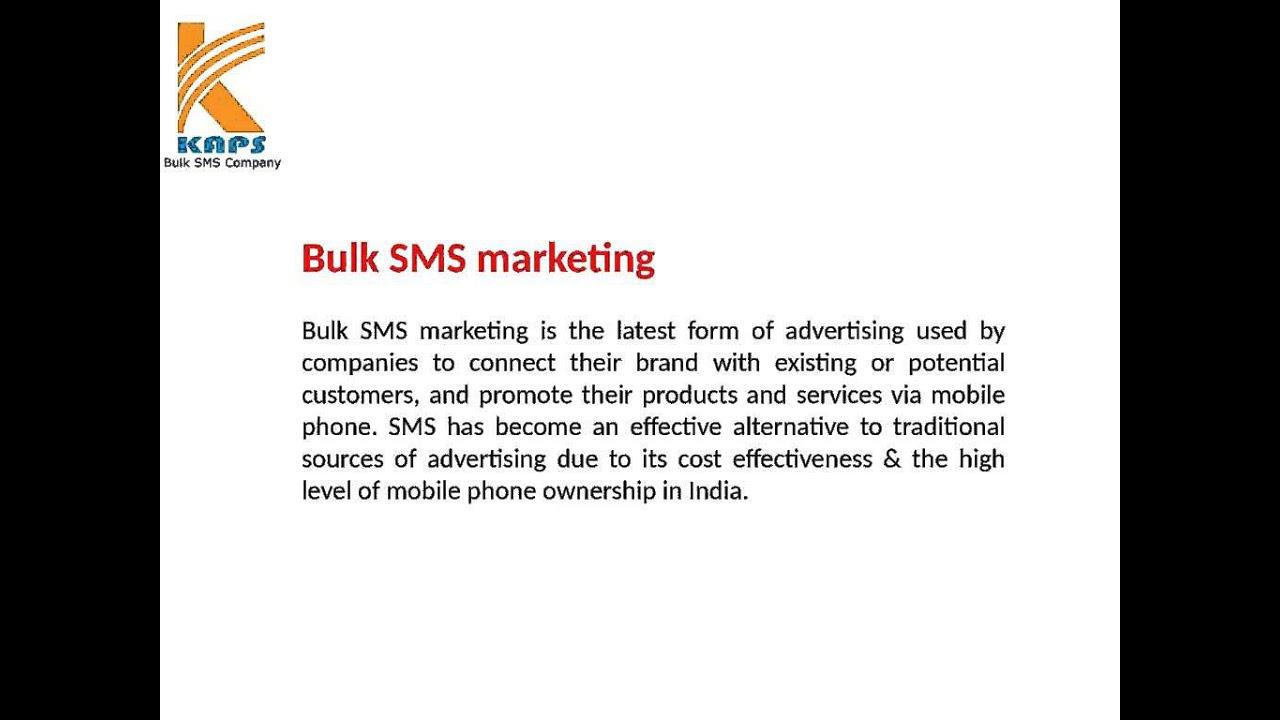 Cheapest Bulk SMS Service Provider in India