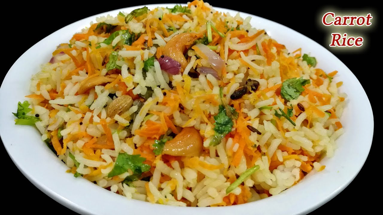 Carrot rice recipe || Quick & easy Lunch box recipe || Carrot Fried Rice