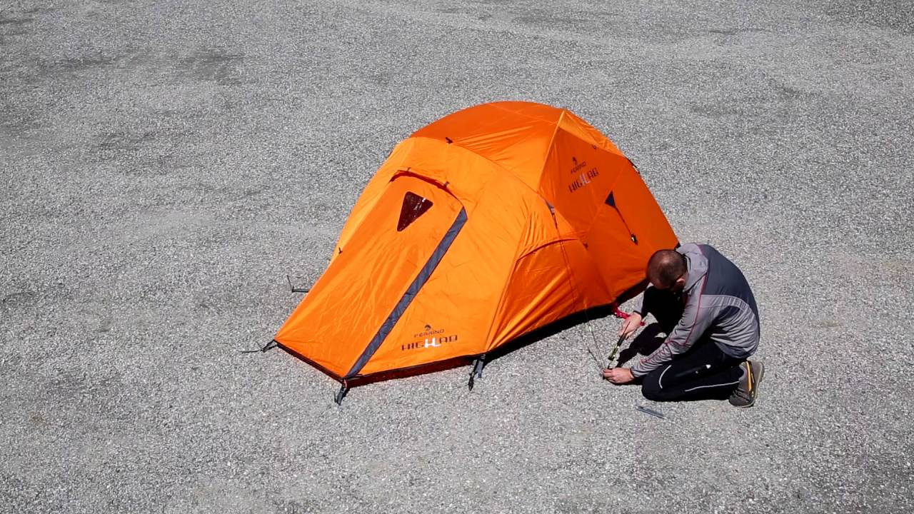 & FERRINO PILIER 2 Tent Assembly Instructions - YouTube