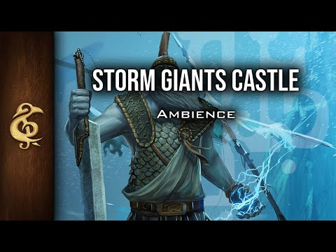 🎧 RPG / D&D Ambience - Storm Giants Castle | Thunder, Fortress, Interior