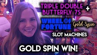 Got the GOLD Spin!!! Wheel of Fortune Slot Machine!!! BONUS!!!