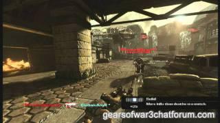 Gears of War 3 funny clip 2 - ass shot