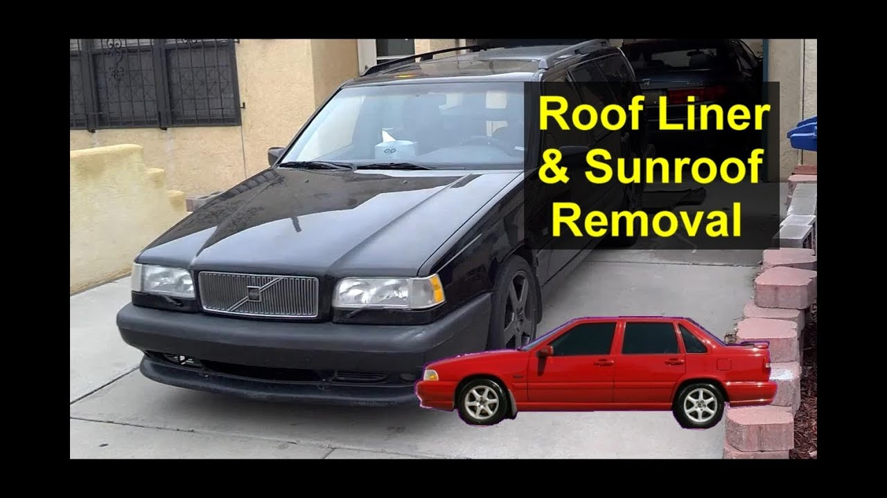 hight resolution of  1998 volvo s70 wiring diagram roof head ceiling liner and sunroof removal volvo and other carsroof head ceiling liner and
