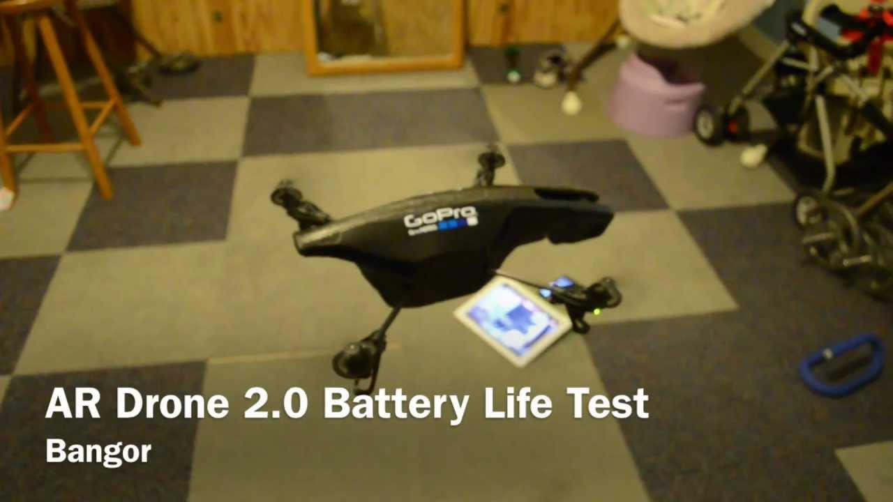 ar drone 2 0 battery life test youtube. Black Bedroom Furniture Sets. Home Design Ideas
