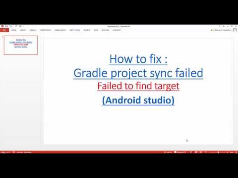 gradle project sync failed