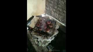 Build Your Own Recycled Brick Barbeque
