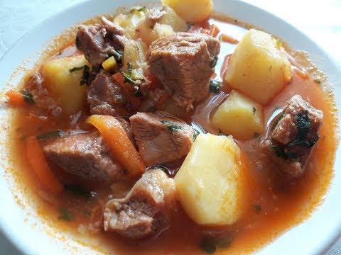 სოუსი ხორცით და კარტოპილით Соус с мясом и картофелем / Грузинская кухня /