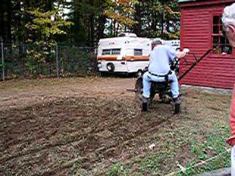 Antique Garden Tiller in action at the Fryeburg Fair Fryeburg